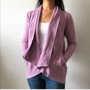 Lucy pink cardigan with pockets women's size small